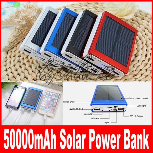 50000 mah Solar Charger Power Bank 50000mAh New Portable Charger Solar Battery External Battery Charger Powerbank free shipping