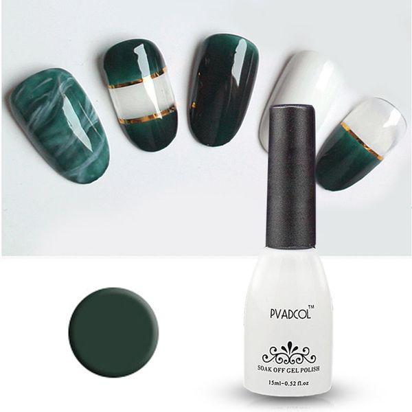 Pvadcol Gel Polish Emerald Green Nail Gel Lacquer Uv/Led Soak Off ...