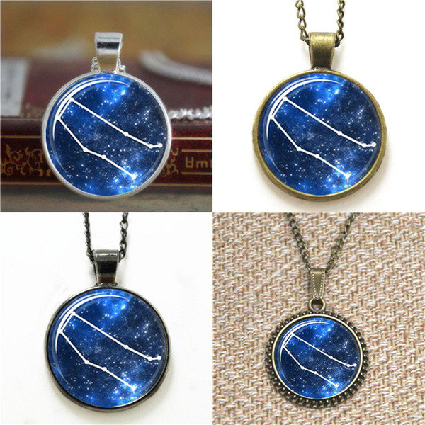 10pcs Pendant Zodiac Horoscope Glass Photo Cabochon Necklace keyring bookmark cufflink earring bracelet