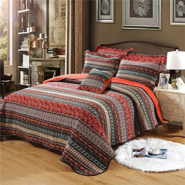Bohemia Bedding Comforter Set Three Pieces Duvet Covers Cotton Sets Designer Bed Clothing Linen Ropa De Cama Home Textile