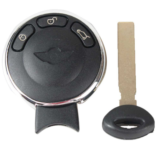 Guaranteed 100% 3Buttons For Mini Cooper Bmw Remote Car Smart Prox Key Keyless Entry Fob Transmitter Uncut Blade Free Shipping