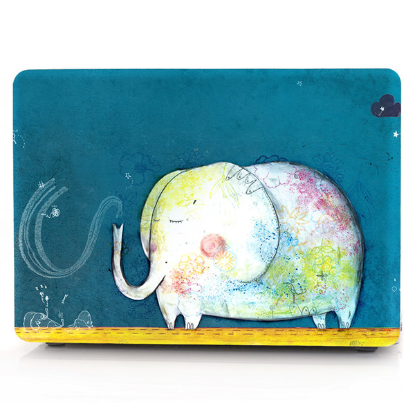 Elephant-1 Oil painting Case for Apple Macbook Air 11 13 Pro Retina 12 13 15 inch Touch Bar 13 15 Laptop Cover Shell