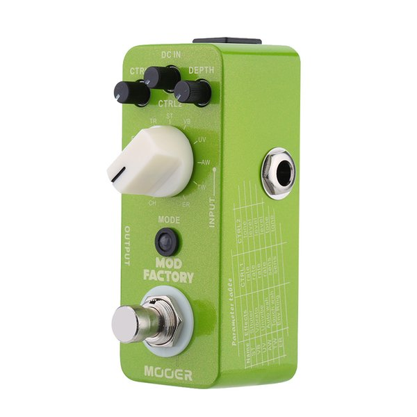 Mooer Mod Fabrika Mikro Mini Elektro Gitar Modülasyonu Etkisi Pedal Gerçek Bypass Yüksek Kaliteli Gitar Parçaları Aksesuarları
