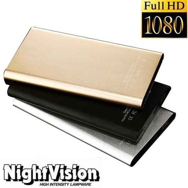 H2 Power bank Cámara estenopeica Full HD 1080 Mobile Power Bank Grabadora de video con visión nocturna Fuente de alimentación Videocámara 90 Gran Angular DVR