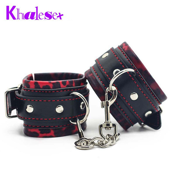 New Arrival Sex Bondage Adult Game Sexy Toys Handcuffs Comfortable Furry Metal Chain Foot Hand cuffs Restraints Sex Products q4201