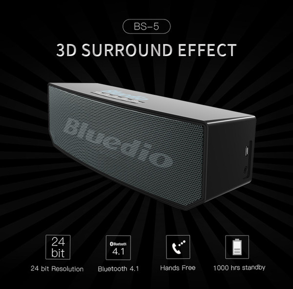 New Blue String BS-6 Stereo Music Portable 3D Bluetooth Speaker High Power Mini Audio Car Subwoofer