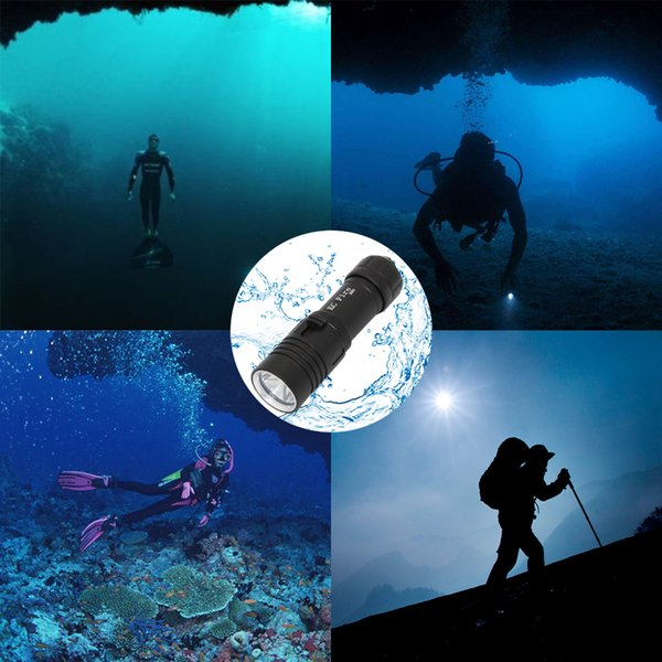 KC Fire 2000Lm XM-L2 Waterproof Dive Underwater 80 Meter LED Diving Flashlight Torch Lamp Light Camping Lanterna With Stepless dimming