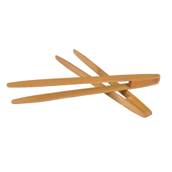 """9.6""""inch Bamboo Kitchen Tongs BBQ Clip Salad Bread Serving Tongs Clip Food Cooking Tool Kitchen Gadgets Wholesale ZA3451"""