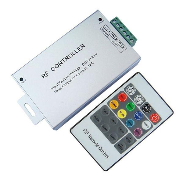 12A Telecomando wireless RGB Led 20 tastiere (alloggiamento in alluminio), controller rgb DC12V-24V per strisce e moduli RGB