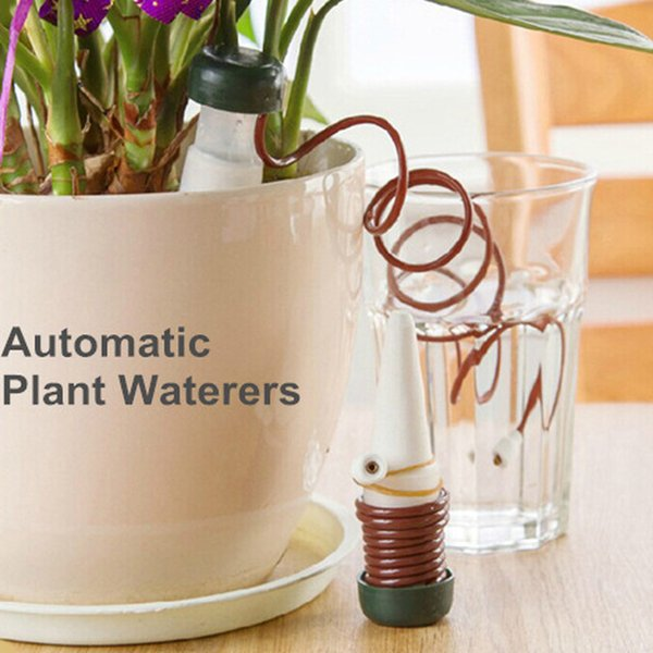 top popular 2pcs set Automatic Watering Flowers Potted Plant Supplies Tools DIY Home Desktop Decor Handmade Drip Water Seepage 2021