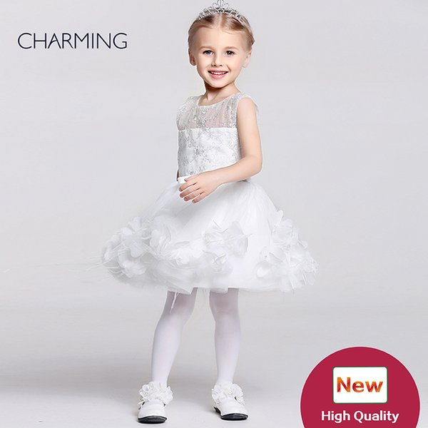 Baby pageant dresses Kids design clothes Flower girl dress ivory high quality Pageant dresses for girls China suppliers