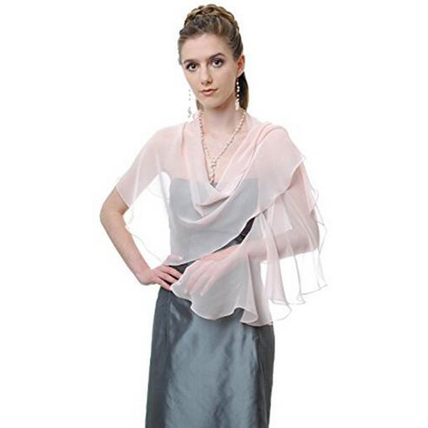 top popular 2017 New Collection Promotion Ladies Party Wrap Beautiful Bridal Shawl Shoulder Covers Optional Colors Free Custom Made 2021