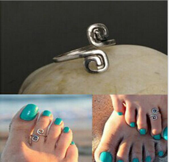 Beach fashion show retro style luck 8 words toe ring foot ring wholesale free shipping