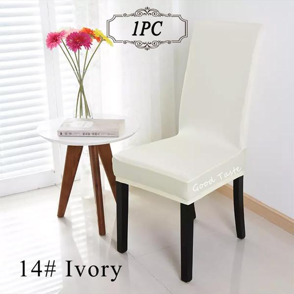 1 ADET Evrensel Polyester Streç Beyaz Sandalye Kapak Spandex Elastik Renkli Sandalye Kapak Ziyafet Ev Düğün Dekorasyon Ev Tekstili için