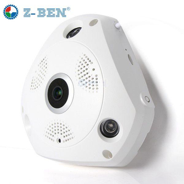2019 Z-BEN 1280 * 960P 1.3MP 360 degrés caméra panoramique Fisheye HD sans fil VR panoramique HD caméra IP P2P caméra intérieure caméra de sécurité WiFi
