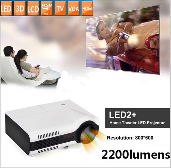 Atacado-Native 800x600pixels 1080 P resolução pico lcd projetor de vídeo game mini led projetor com TV USB HDMI VGA, frete grátis