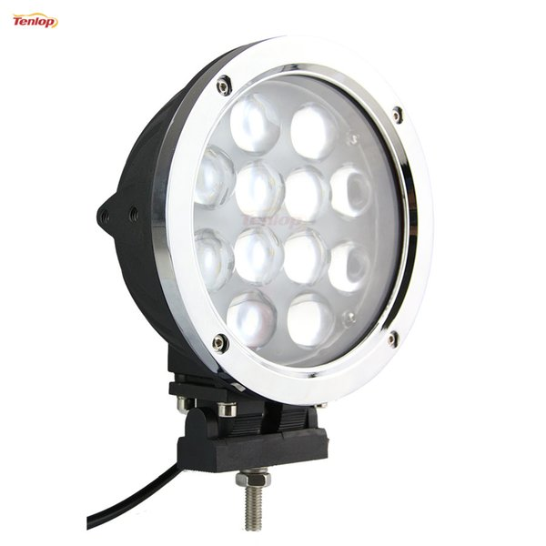 Hot Sale 7 Inch Cree 60W LED Work Light Silver For Jeep ATV 4*4 Offroad Boat 12V 24V