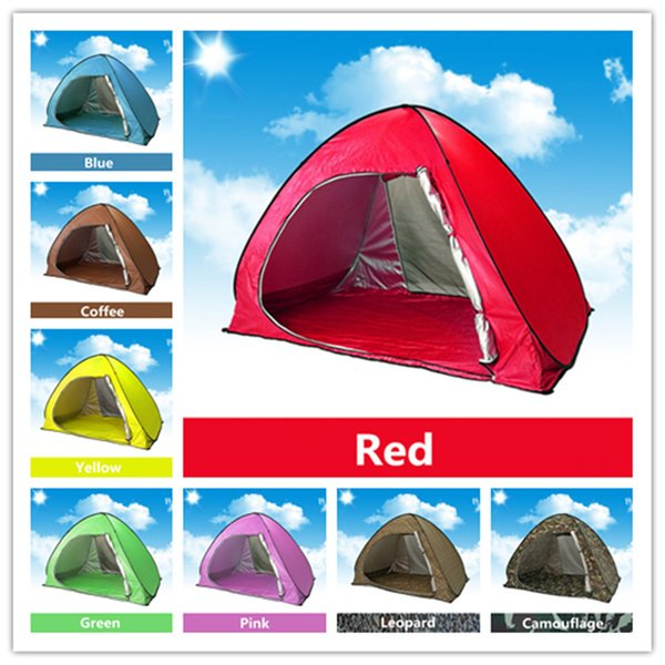 Summer Camp Tents Quick Automatic Opening Graduation Travel Tent Outdoors UV Protection SPF 50+ Tent for Beach Lawn 2-3 People 10 pcs /lot