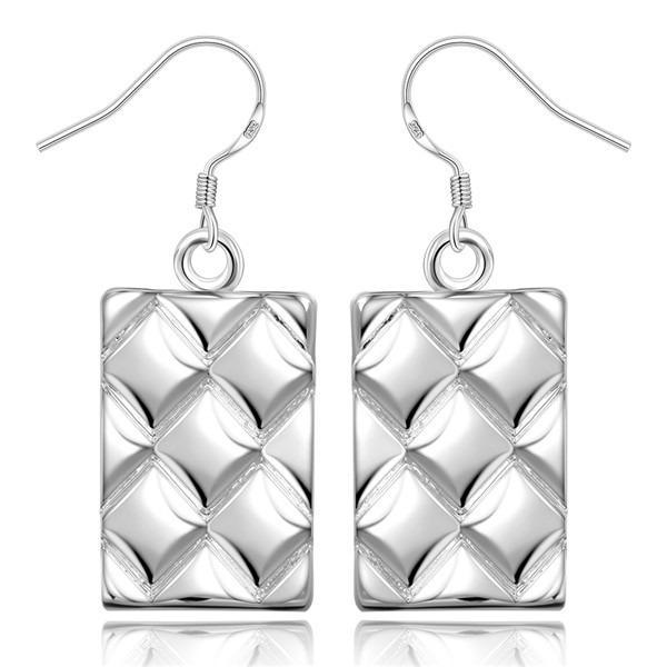 Buena A ++ Piña rayas plata esterlina pendientes de plata esterlina GE376, mujeres 925 plata cuelga pendientes de la lámpara
