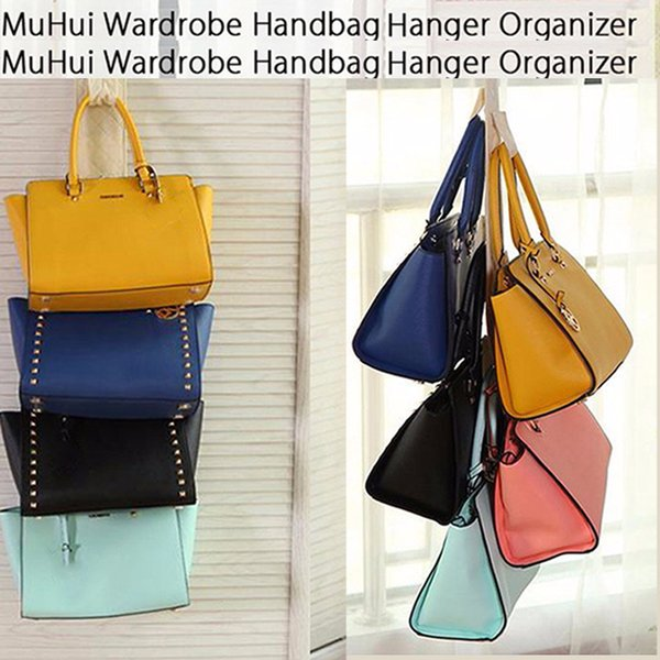 Wholesale- MUHUI Creative Hanging Storage Bag Non-woven Handbag Waterproof Door Wall Mounted Home Sundries Jewelry Closet Organizer Bags