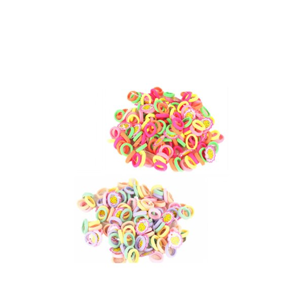 Free shipping Candy Color 2.5cm diameter Seamless Elastic Ropes Baby Girls' Hair Bands Ties Kids Accessories