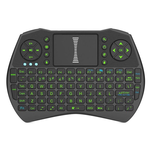 Retroilluminazione 2,4 GHz Wireless Keyboard Air Mouse Touchpad Retroilluminazione portatile Retroilluminazione per Android TV BOX Smart TV PC Notebook