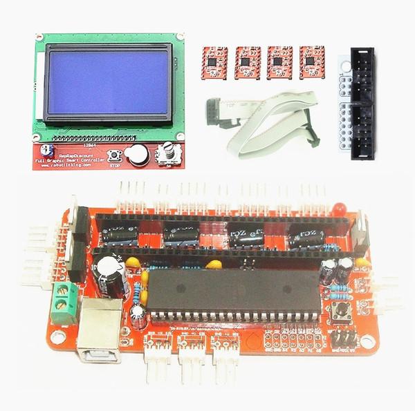 IKEYES T9 Arduino DIY 3D-принтер Kit RepRap Sanguinololu Ver1.3a Плата с Atmega644P, 4 ПК A4988 драйверов и 12864LCD