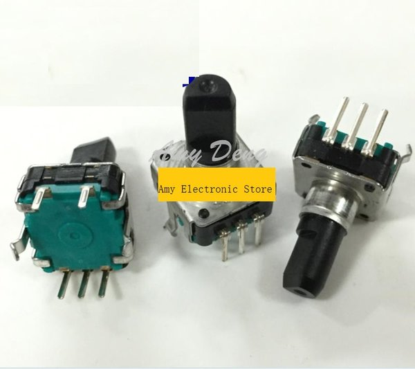 Wholesale- 20pcs/lot Free shipping Japanese EC12 encoder with switch 24 posioning number 24 pulse shaft length 15MM