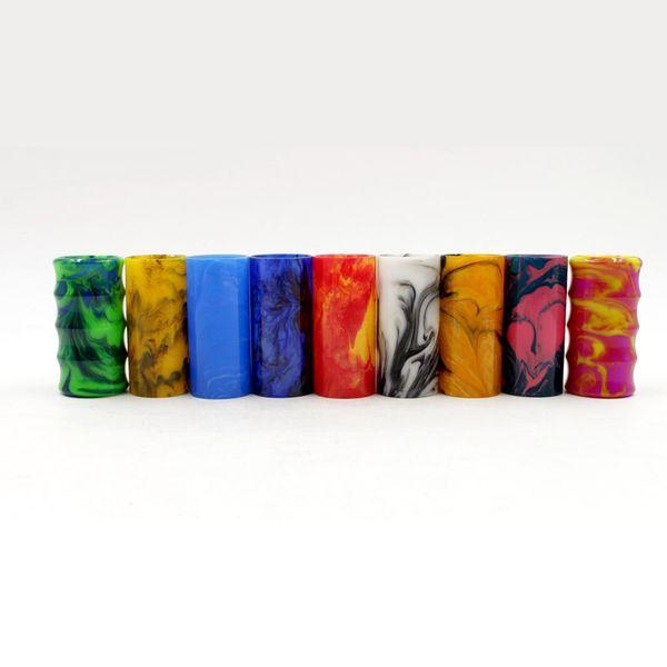 Av lyfe mod sostituibile resina epossidica Tubo per Avlyfe mods AV Manhattan 18650 Mech Mod vari colori decorazione tubo di alta qualità DHL