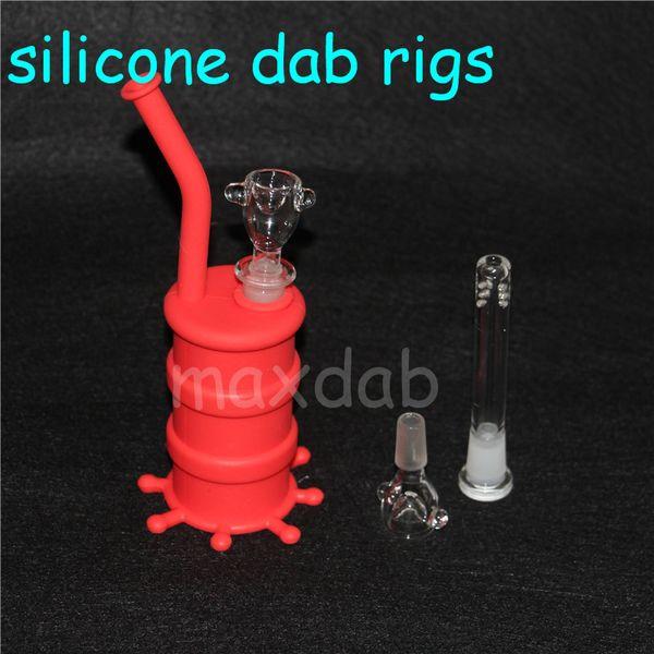 silicone rigs Silicone Container wax silicon Box case For Atomizer Vaporizer E Cigarette Oil Box Reusable Silicone Wax Box Containers