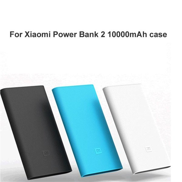 High quality Silicone Power Bank Case Cover For Xiaomi Power Bank 2 10000mAh External Battery Protective skin