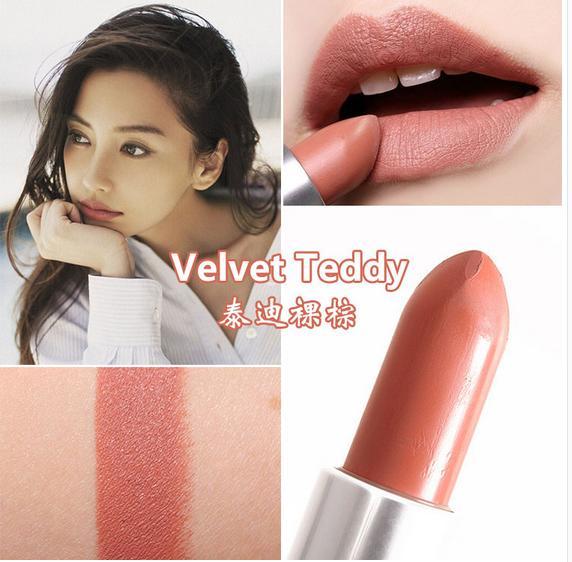 top popular Free Shipping! Hot sell make up matte lipstick New Color VELVET TEDDY lipstick 3g (10pcs lot) 2020