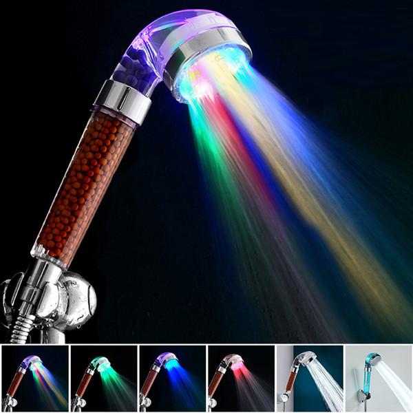 Best Temperature Control Led Light Shower Head Home Bathroom Faucet ...