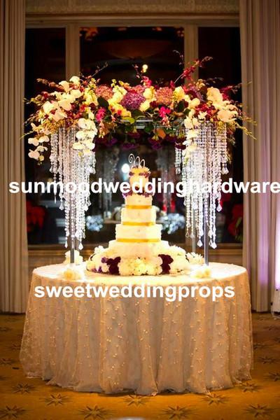 clear new artificial flower arrangement stand wedding table centerpieces,event decor for flower arrangement
