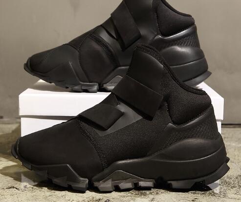 Autunno e inverno Y3 scarpe da uomo in pelle nera guerriero alta per aiutare le coppie scarpe casual aumentato fondo spesso
