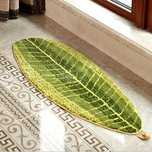 Großhandel Komfortable Blatt Teppich 40 * 60 Cm Grüne Küche ...