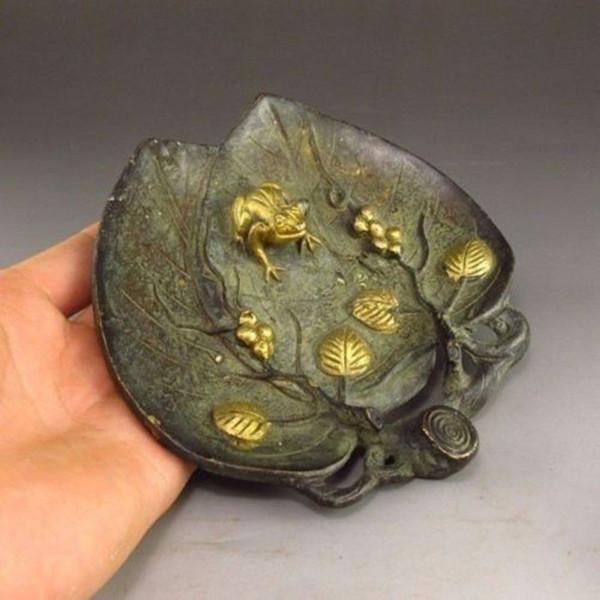 Escova de bronze chinesa w w Estátua - sapo