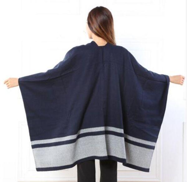 2016 neue Ankunft Marke Frauen Decke Poncho Kaschmir Wolle Schal Cape Winter bufanda manta Tartan Plaid l Schals