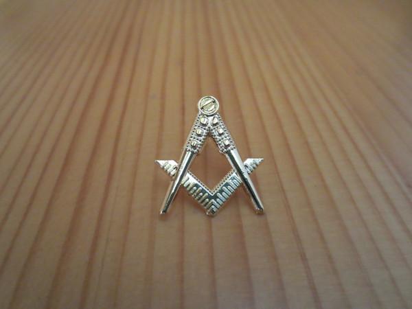 top popular Masonic Lapel Pins Badge Mason Freemason B40 Compass And Square Hollow out 2019