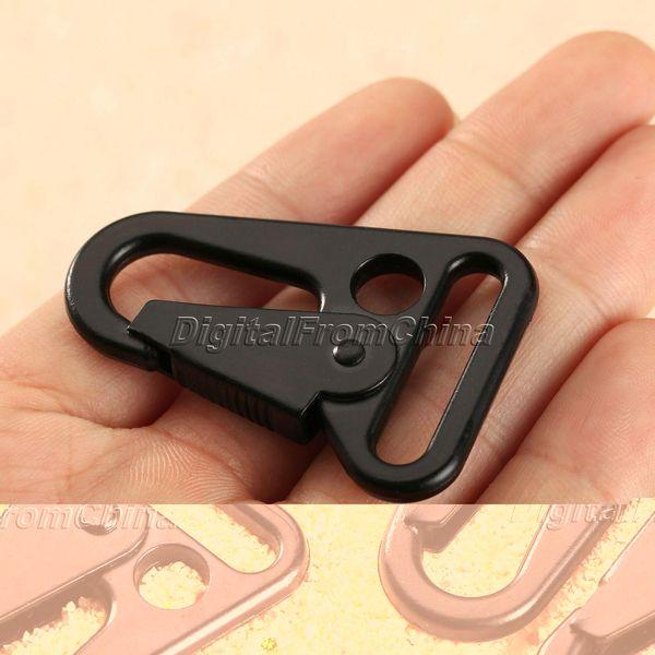 2Pcs Sling Snap Hook Clips Rifle Strap Gun Attachment Carabiner Buckle