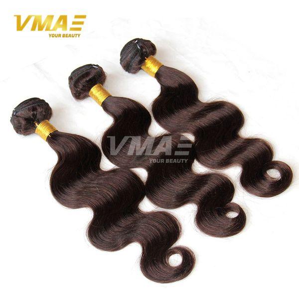 Brazilian Body Wave Virgin Human VMAE Hair extensions Dark/Middle/Light Brown Hair Grade 8A Brazilian Human Hair Wavy Weave 3 Bundles Deals