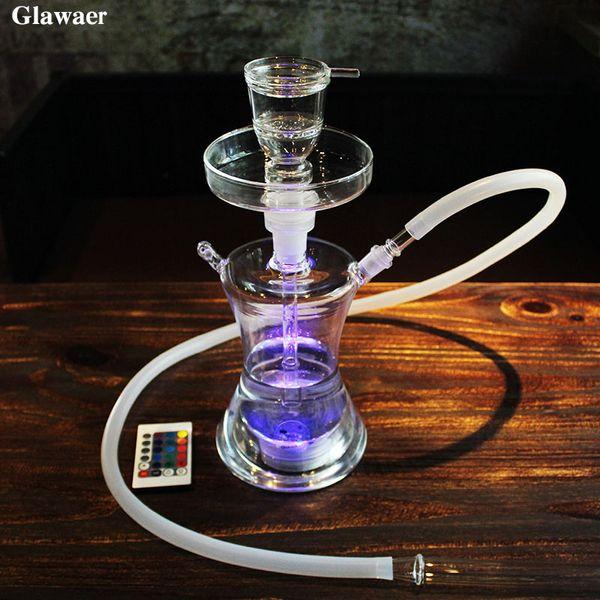 2017 Hottest Classic Glass Hookah Shisha for Smoking Glass Bong Tube Silicone Hose Nargile Cachimba Waterpijp Online Sale