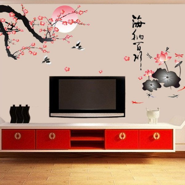 Plum Wall Stickers Removable Wallpaper Children Kid Room Cute Hot - Sale Decor Large Decoration Adhesive Plum Child Bedroom