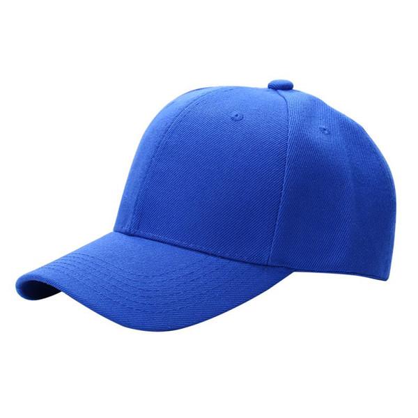 2018 cor sólida das mulheres dos homens simples boné de beisebol unisex curvo viseira chapéu hip-hop ajustável pala chapéu viseira caps