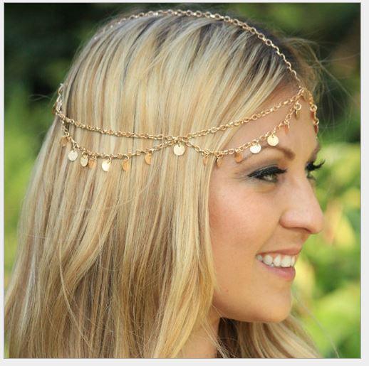 Faixa de cabelo de lantejoulas