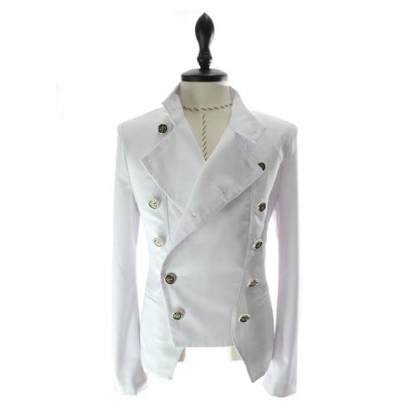 Wholesale- Mens Coat Fashion Jacket Men Boys Suit Male Outwear Double Breasted Casual Blazer Slim Fit Coat Warm 968