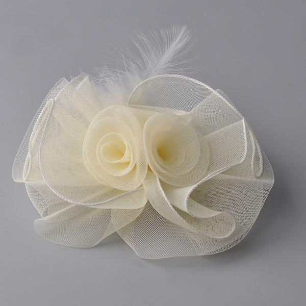 2017 Free Shipping New Bridal Ivory Hat Fascinator Handmade Vintage Lady Elegant Birdcage Net Hair Headdress Wedding Accessories