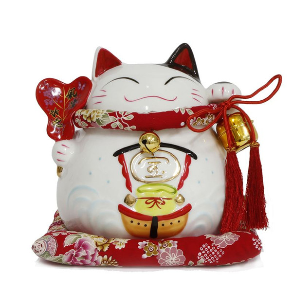 Lucky Cat ornaments with the cat opened genuine China large ceramic piggy shipping ornaments