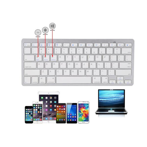 İPad Pro Android için taşınabilir Ultra İnce Bluetooth Klavye / Windows Bluetooth Etkin Aygıtlar Siyah Beyaz Renk