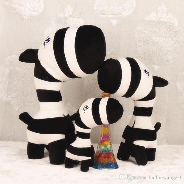 New Super Cute Little Zebra Plush Toy 27cm Lovely Cartoon Forest Zebras Soft Stuffed Animals Doll Baby Toy Kids Birthday Gifts